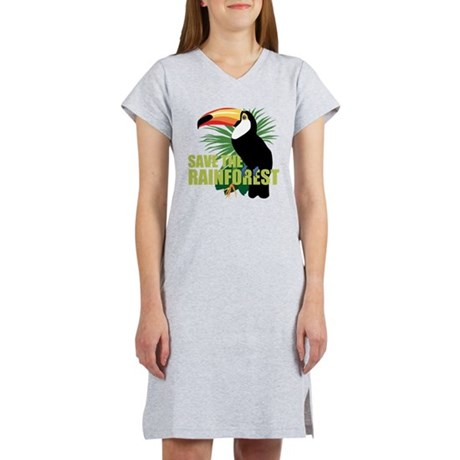 save_rainforest.png Women's Nightshirt