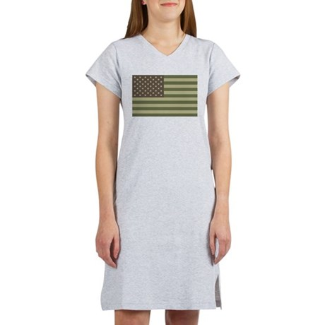 us_flag_camo.png Women's Nightshirt