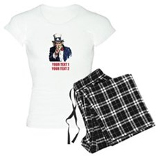 [Your text] Uncle Sam 2 Pajamas