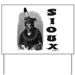 SIOUX INDIAN CHIEF Yard Sign