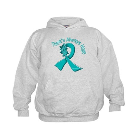 Ovarian Cancer There's Always Hope Kids Hoodie