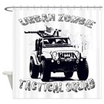 Urban Zombie Tactical Squad Shower Curtain