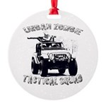 Urban Zombie Tactical Squad Round Ornament