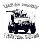 Urban Zombie Tactical Squad Square Car Magnet 3