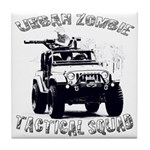 Urban Zombie Tactical Squad Tile Coaster