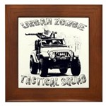 Urban Zombie Tactical Squad Framed Tile