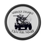 Urban Zombie Tactical Squad Large Wall Clock