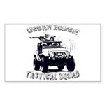 Urban Zombie Tactical Squad Sticker (Rectangle)