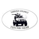 Urban Zombie Tactical Squad Sticker (Oval 10 pk)