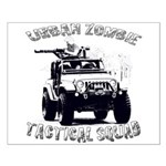 Urban Zombie Tactical Squad Small Poster