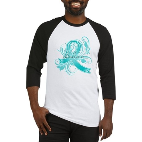 Ovarian Cancer Believe Baseball Jersey