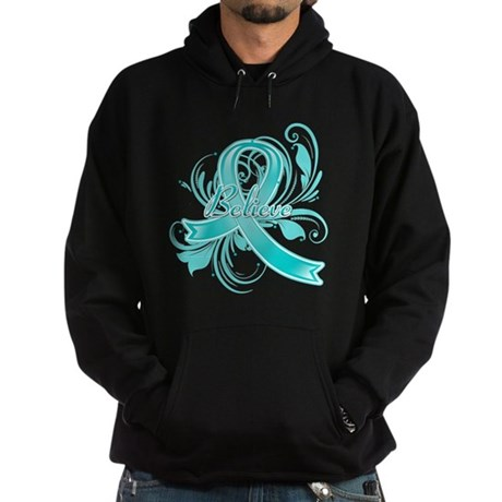 Ovarian Cancer Believe Hoodie (dark)