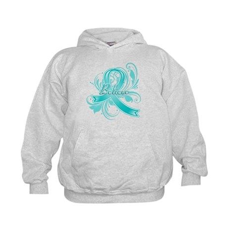 Ovarian Cancer Believe Kids Hoodie