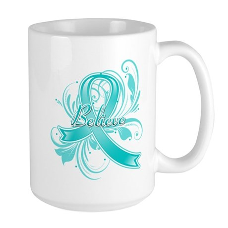 Ovarian Cancer Believe Large Mug