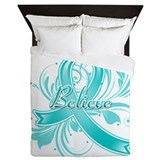 Ovarian Cancer Believe Queen Duvet