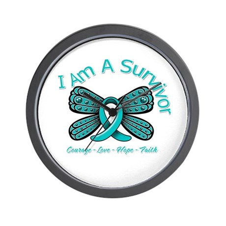 Ovarian Cancer I Am A Survivor Wall Clock