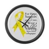 Hope Cure Spina Bifida Large Wall Clock