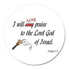 Ring Praise Round Car Magnet