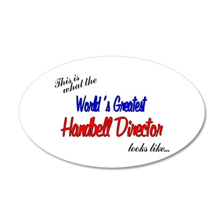 worlds greatest director.png 20x12 Oval Wall Decal