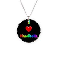 Cool Handbell Necklace Circle Charm