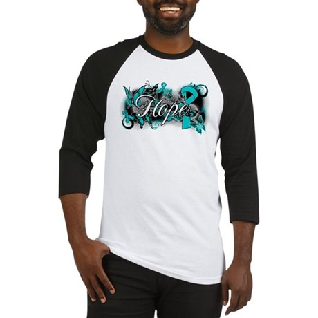 Ovarian Cancer Hope Garden Ribbon Baseball Jersey