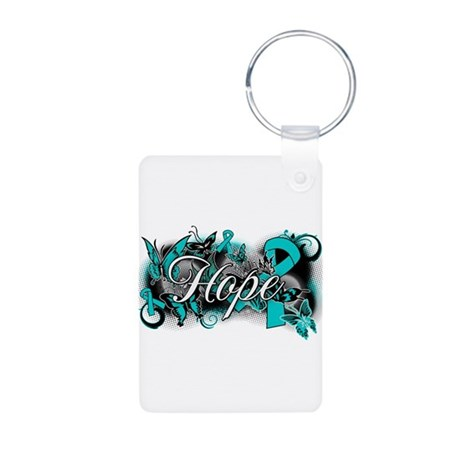 Ovarian Cancer Hope Garden Ribbon Aluminum Photo K