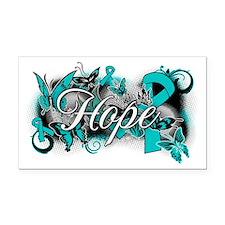 Ovarian Cancer Hope Garden Ribbon Rectangle Car Ma
