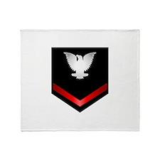 Navy PO3 Throw Blanket