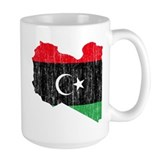 Libya Flag And Map Mug