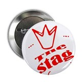 "Bachelore party the stag red , in Red 2.25"" Button"