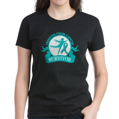 Freedom From Ovarian Cancer Shirts Women's Dark T-