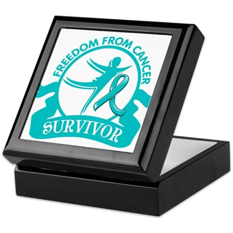 Freedom From Ovarian Cancer Shirts Keepsake Box