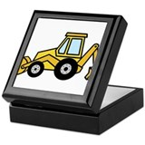 Cute Yellow Tractor Keepsake Box