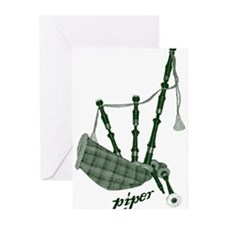 PIPER (bagpipes design!) Greeting Cards (Pk of 20)