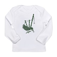 PIPER (bagpipes design!) Long Sleeve Infant T-Shir