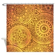 Faux Goldens Suns Shower Curtain