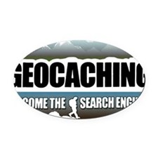 GEOCACHING Oval Car Magnet