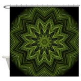 Woven Jungle Leaves mandala Shower Curtain