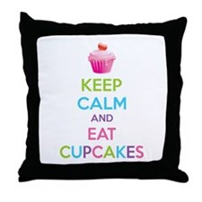 Keep calm and eat cupcakes Throw Pillow