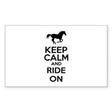 Keep calm and ride on Bumper Stickers