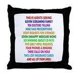 Pharmacist 12 days of Christmas.PNG Throw Pillow