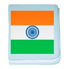 India Flag baby blanket
