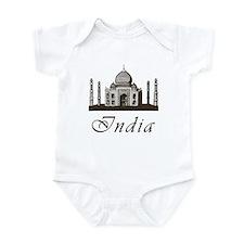 Retro India Taj Mahal Infant Bodysuit