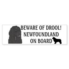 Beware of Drool Car Sticker