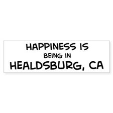 Healdsburg - Happiness Bumper Bumper Sticker