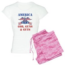 America God, Guns and Guts Pajamas