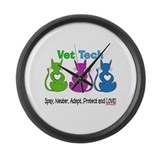 Vet Tech 1.PNG Large Wall Clock