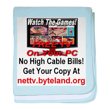 Watch The Games! Free TV on Your PC! baby blanket