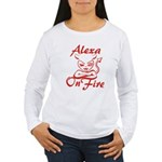 Alexa On Fire Women's Long Sleeve T-Shirt