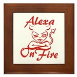 Alexa On Fire Framed Tile
